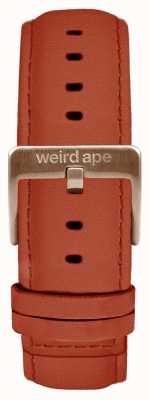 Weird Ape Correia de camurça de ferrugem 20mm fivela de ouro rosa ST01-000094