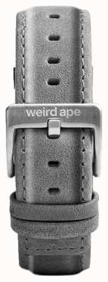 Weird Ape Slate cinza camurça 20mm cinta prata fivela ST01-000016