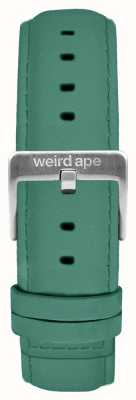 Weird Ape Jade verde camurça 16mm cinta prata fivela ST01-000060
