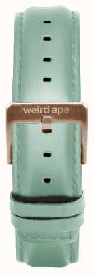 Weird Ape Bracelete em couro verde menta de 16mm apenas fivela em ouro rosa ST01-000042