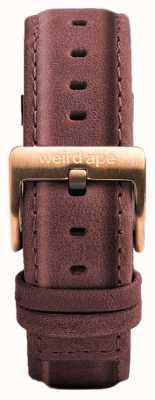 Weird Ape Bracelete em couro rosa pastel de 16mm apenas fivela em ouro rosa ST01-000033