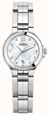 Michel Herbelin Senhoras newport royale relógio de aço inoxidável 14298/B89