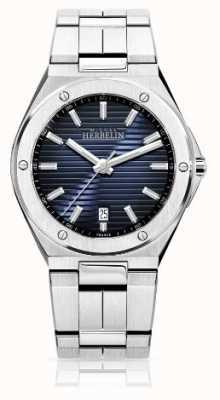 Michel Herbelin Mens Stainless Steel Watch mostrador preto 12245/B15