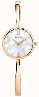 Michel Herbelin Senhoras rosa relógio de ouro rosa pulseira de ouro 17408/BPR19