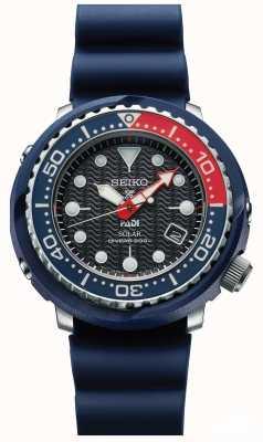 Seiko Mens atum azul padi solar prospex mergulhadores relógio SNE499P1