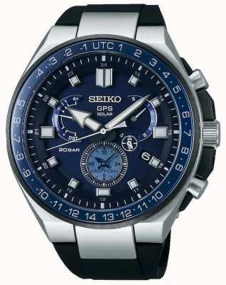Seiko Mens gps astron solar relógio azul discagem SSE167J1