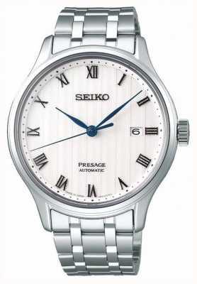 Seiko Presage mens automática pulseira de aço inoxidável mostrador branco SRPC79J1