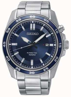 Seiko Mens aço inoxidável relógio de aço inoxidável dial SKA783P1
