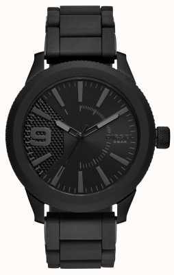 Diesel Mens todos preto grosa relógio pulseira de metal DZ1873