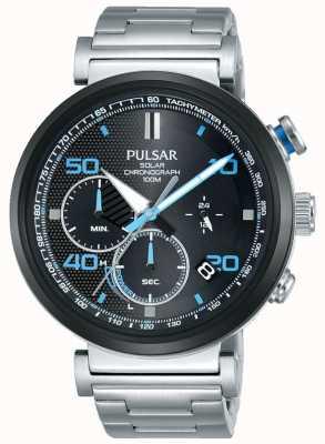 Pulsar Relógio de cronógrafo solar de aço inoxidável para homem PZ5065X1