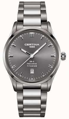 Certina Mens ds-2 precidrive cinza aço titânio relógio C0244104408120