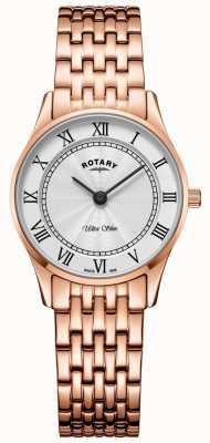 Rotary Womens ultra slim rosa pulseira de ouro LB08304/01