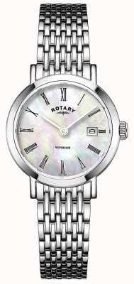 Rotary Relógio de pulseira de aço inoxidável para mulher LB05300/39