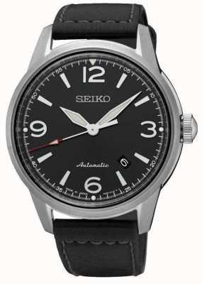 Seiko Mens presage automático preto pulseira preta mostrador do relógio SRPB07J1