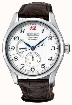 Seiko Relógio de exibição de reserva de energia automática dos homens Presage SPB059J1