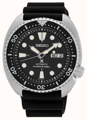 Seiko Mens prospex automático tartaruga mergulhador assistir preto SRP777K1