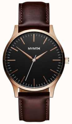 MVMT Série 40 rosa de ouro marrom | cinta marrom | mostrador preto D-MT01-BLBR