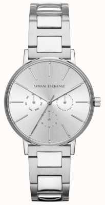 Armani Exchange Relógio de cronógrafo em prata de aço inoxidável para senhora lola AX5551