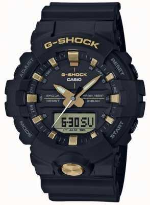 Casio G-shock analógico digital multi-funções ouro preto fosco GA-810B-1A9ER