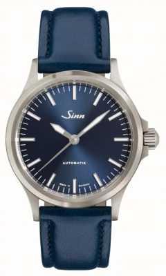 Sinn 556 ib pulseira de couro azul 556.0104 BLUE COWHIDE STRAP