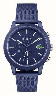 Lacoste Mens 12.12 pulseira de silicone azul mostrador azul 2010970