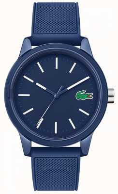 Lacoste 12.12 pulseira de borracha azul 2010987