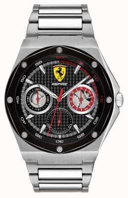 Scuderia Ferrari Mens aspire exibição de data de discagem de aço inoxidável preto 0830535