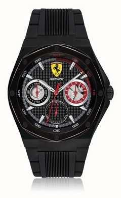b1cfbf0a0c6 Scuderia Ferrari Mens aspire preto pulseira de borracha preta data caso  0830538