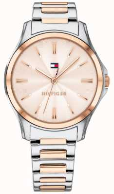 Tommy Hilfiger Womens dois tons rosa banhado a ouro rosa dial 1781952