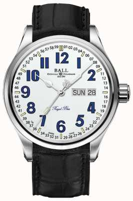 Ball Watch Company Trainmaster azul royal data de marcação e dia branco NM1058D-LL9J-WH