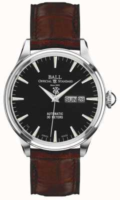 Ball Watch Company Trainmaster eternity black dial dia e data de exibição NM2080D-LJ-BK