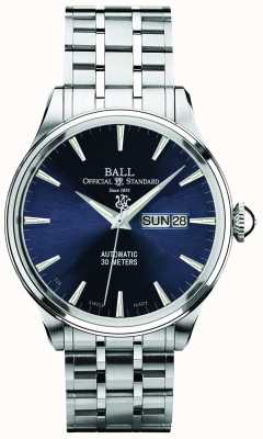 Ball Watch Company Trainmaster eternity mostrador azul dia automático e exibição de data NM2080D-SJ-BE