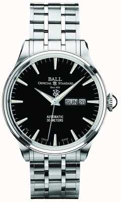 Ball Watch Company Trainmaster eternity black dial dia automático e exibição de data NM2080D-SJ-BK