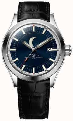 Ball Watch Company Engenheiro ii lua fase data exibir mostrador azul NM2282C-LLJ-BE