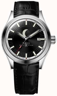 Ball Watch Company Engenheiro ii mostrador de data de fase de lua mostrador preto NM2282C-LLJ-BK