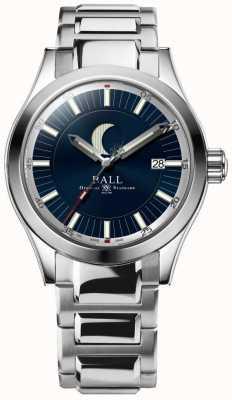 Ball Watch Company Engenheiro ii lua fase data exibir pulseira de aço inoxidável NM2282C-SJ-BE
