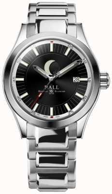 Ball Watch Company Engenheiro ii lua fase data exibir pulseira de aço inoxidável NM2282C-SJ-BK