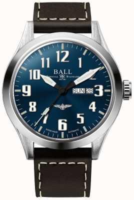 Ball Watch Company Engenheiro iii prata estrela azul dia de discagem e exibição de data NM2180C-L2J-BE
