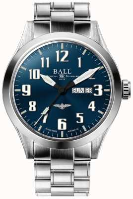Ball Watch Company Engenheiro iii prata estrela azul dia de discagem e exibição de data NM2180C-S2J-BE