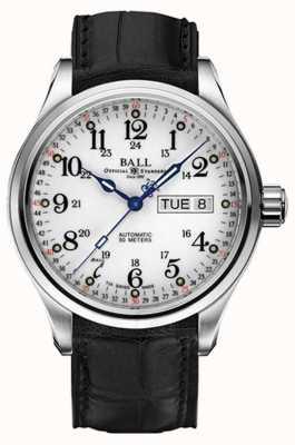 Ball Watch Company Trainmaster 60 segundos dia automático e exibição de data NM1058D-LL3FJ-WH