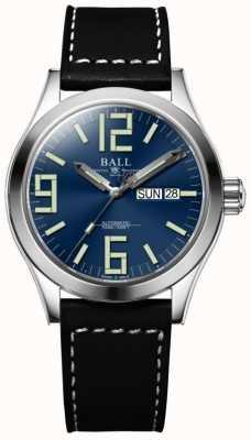 Ball Watch Company Engenheiro ii gênesis mostrador azul pulseira de couro marrom dia e data NM2026C-LBK7-BE