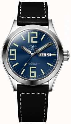 Ball Watch Company Engenheiro ii gênesis mostrador azul pulseira de couro preto dia e data NM2026C-LBK7J-BE