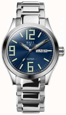 Ball Watch Company Engenheiro ii gênese dial azul dia de aço inoxidável e data NM2026C-S7J-BE