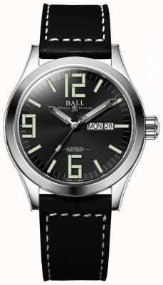 Ball Watch Company Engineer ii genesis pulseira de couro mostrador preto dia e data NM2028C-LBK7J-BK