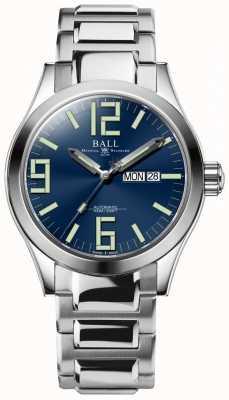 Ball Watch Company Engenheiro ii gênese dial azul dia de aço inoxidável e data NM2028C-S7J-BE