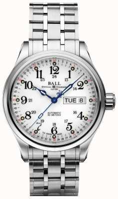 Ball Watch Company Empresa 60 segundos dia de discagem em branco e exibição de data NM1058D-S3J-WH