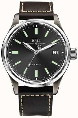 Ball Watch Company Mostrador de data de discagem preto automático de titânio Trainmaster NM1038D-L5J-BK