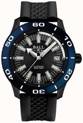 Ball Watch Company Mostrador de data de bombeiro automático necc azul moldura DM3090A-P5J-BK