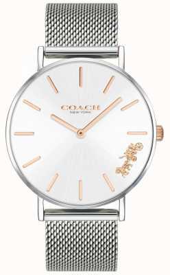 Coach Womens perry pulseira de malha de prata 14503124