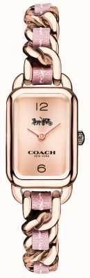 Coach Womens ludlow rosa de ouro e pulseira rosa relógio 14502844
